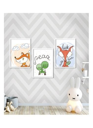 Lyn Home & Decor Geace Çerçeveli 3Lü Poster Tablo 23.5X33,5 Beyaz
